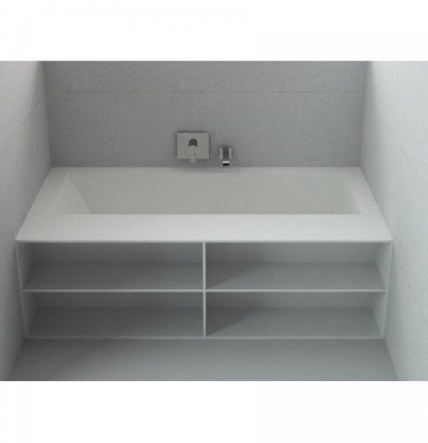 d4c45b40bb69 Vasche da bagno Corian su Misura ONE Libreria FRONTALE
